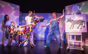 the-artist-who-painted-a-blue-horse-a-polka-dot-donkey-greets-the-artist-andrew-cullimore-the-very-hungry-caterpillar-show-photo-credit-pamela-raith-photography