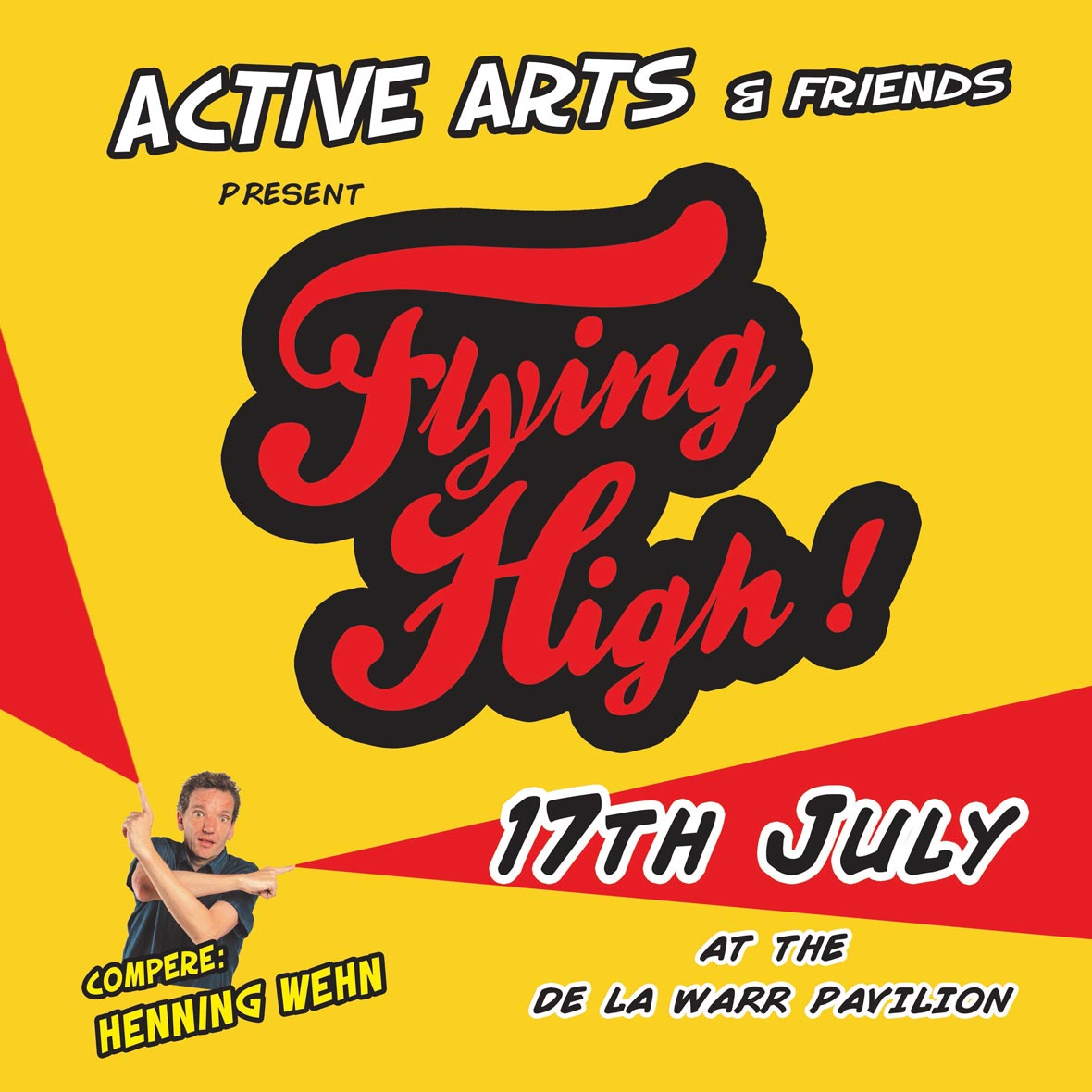 Flying High! Henning Wehn Comedy Performance Musical Theatre Animation Bexhill DLWP